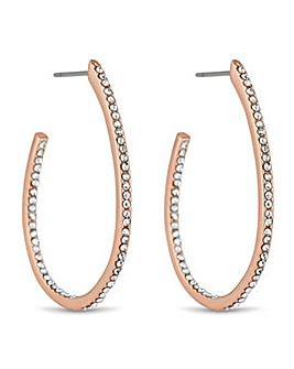 Jon Richard Rose gold hoop earring