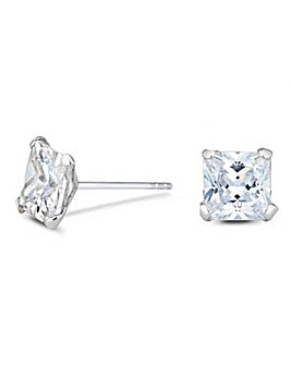 Simply Silver square stud earring