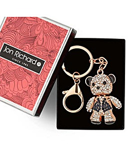 Jon Richard Rose gold teddy keyring