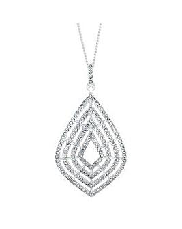 Jon Richard gradient peardrop necklace