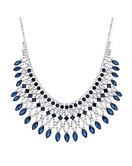 Jon Richard Blue crystal necklace