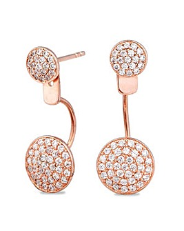 Simply Silver disc front back earring
