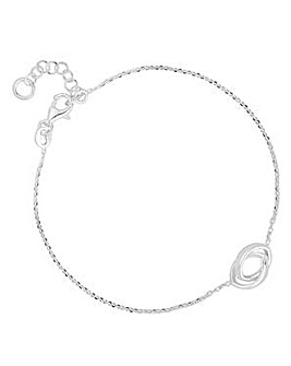Simply Silver double link bracelet