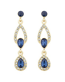 Alan Hannah double peardrop earring