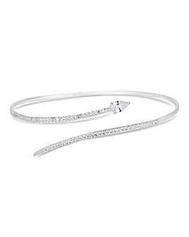 Simply Silver delicate wrap bracelet