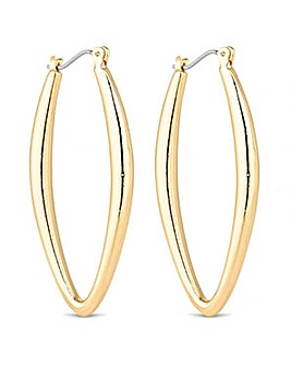Jon Richard Gold navette hoop earring