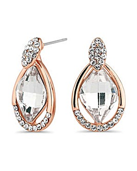 Jon Richard Rose gold lemon drop earring