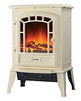 Warmlite 2kW LED Cream Stove Fire