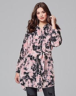 AX Paris Cloud Print Shirt Dress
