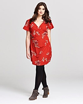 AX Paris Floral Print Wrap Dress