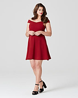AX Paris Cross Over Crepe Skater Dress