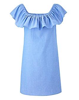 AX Paris Off The Shoulder Denim Dress