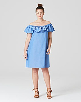 AX Paris Off The Shoulder Denim Dress