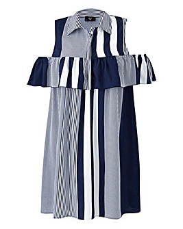 AX Paris Ruffle Detail Stripe Dress