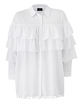 AX Paris Ruffle Sleeve Blouse