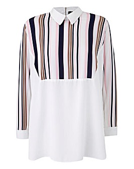 AX Paris Stripe Collar Top