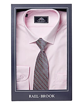 Rael Brook Pink L/S Shirt And Tie Set R