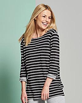 Striped Longline Pullover
