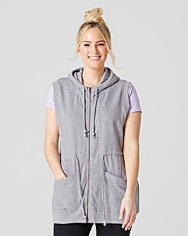 Sleeveless Longline Hooded Top
