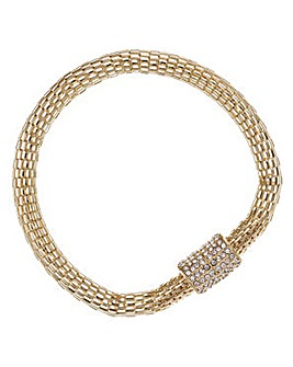 Mood gold mesh crystal magnetic bracelet