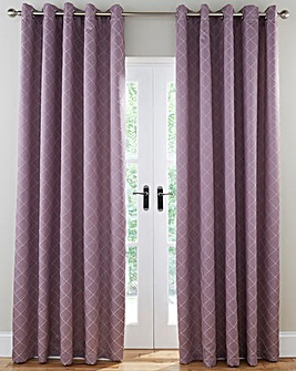 Trella Diamond Eyelet Lined Curtains