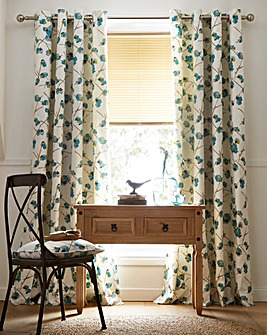 Tula Floral Lined Eyelet Curtains