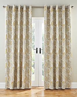 Peyton Leaf Lined Eyelet Curtains