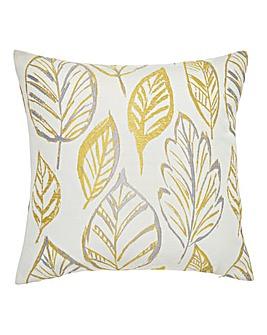 Peyton Leaf Square Filled Cushion