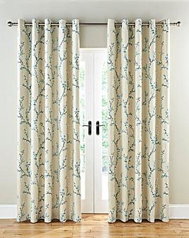 Hemsworth Lined Eyelet Curtains