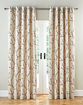 Hemsworth Lined Eyelet Curtains