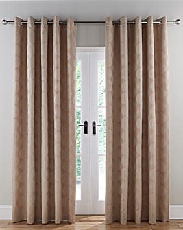 Astoria Jacquard Lined Eyelet Curtains