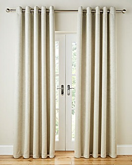 Vogue Woven Blackout Eyelet Curtains