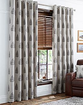 Ancona Fern Luxury Lined Eyelet Curtains
