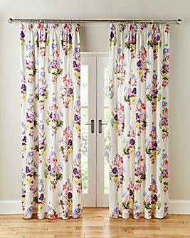 Bouquet Thermal Pencil Pleat Curtains