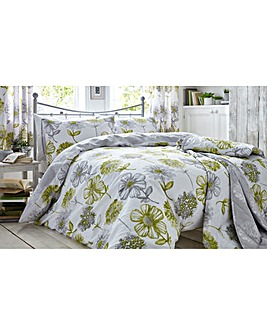 Banbury Green Floral Duvet Cover Set