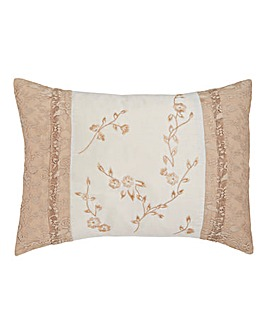 Maple Embroidered Leaves Boudoir Cushion