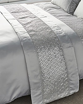 Shimmer Embellished Quilted Runner
