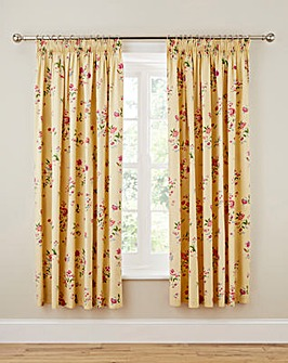 Springtime Posy Pencil Pleat Curtains