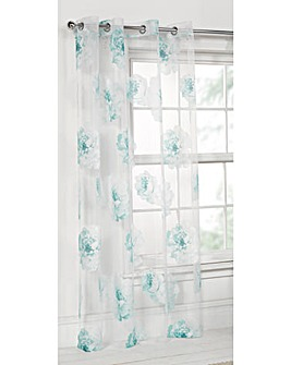 Rose Printed Voile Panel