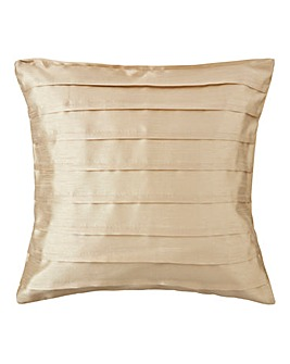 Faux Silk Pleated Filled Cushion