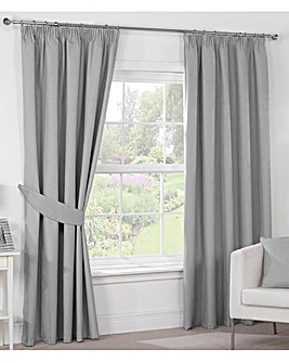 Luna Blackout Pencil Pleat Curtains