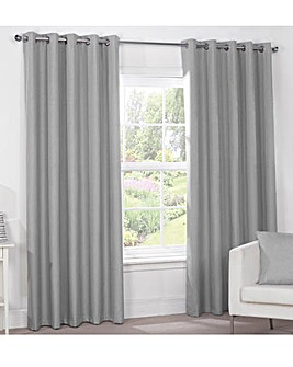 Luna Blackout Lined Eyelet Curtains