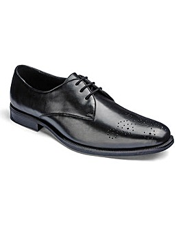Formal Gibson Derby Shoe Extra Wide Fit