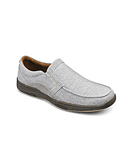Canvas Slip On Shoe Wide Fit