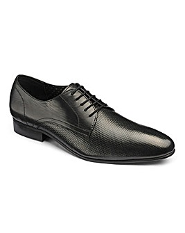 Leather Premium Woven Derby Ex Wide Fit
