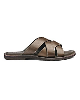 Leather Cross Strap Sandals