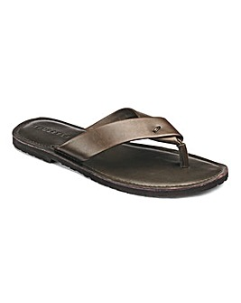 Leather Toe Post Sandal