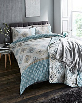 Indra Duck Egg Duvet Cover Set
