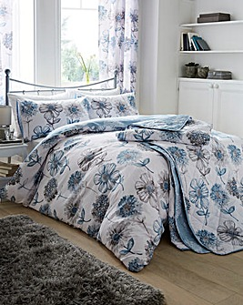 Banbury Pale Blue Floral Duvet Set