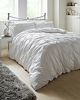 Elissa White Cotton Duvet Cover Set